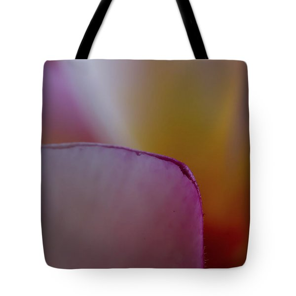 Tote Bag featuring the photograph Flower Edges by Roger Mullenhour
