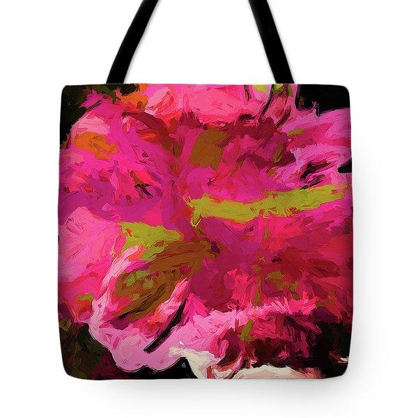 Flower Euphoria Magenta Pink Tote Bag