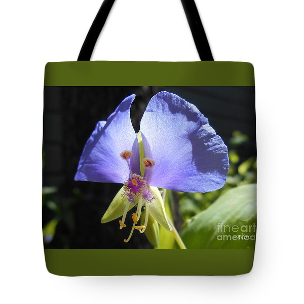 Flower Face Tote Bag
