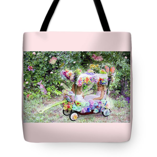 Flower Fairies In A Flower Mobile Tote Bag