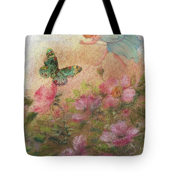 Flower Fairy Butterfly Roses Tote Bag