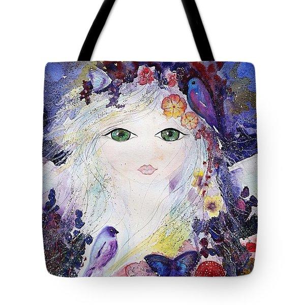 Flower Fairy Tote Bag by Nino Gabashvili