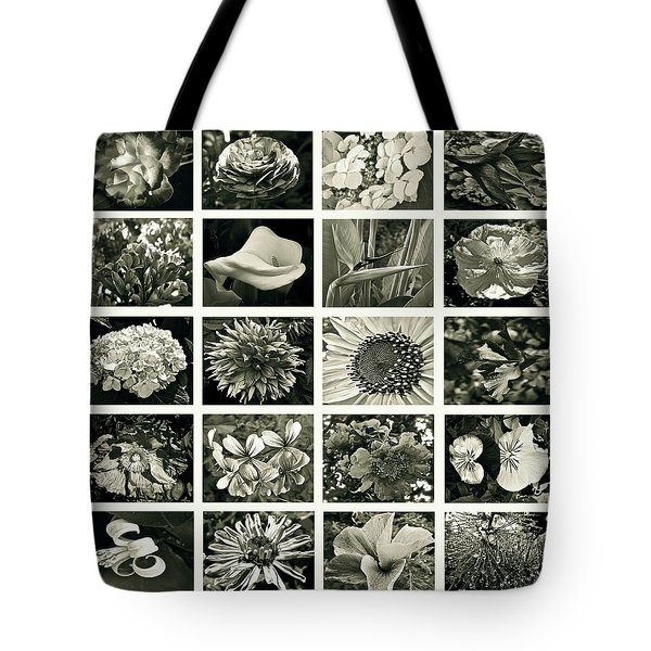 Flower Favorites Bw Tote Bag by Gwyn Newcombe