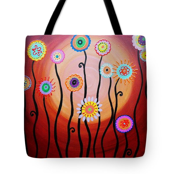 Flower Fest Tote Bag by Pristine Cartera Turkus
