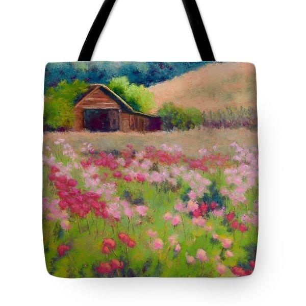 Flower Field Tote Bag by Nancy Jolley