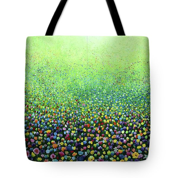 Flower Field Riot Tote Bag by Geoff Greene