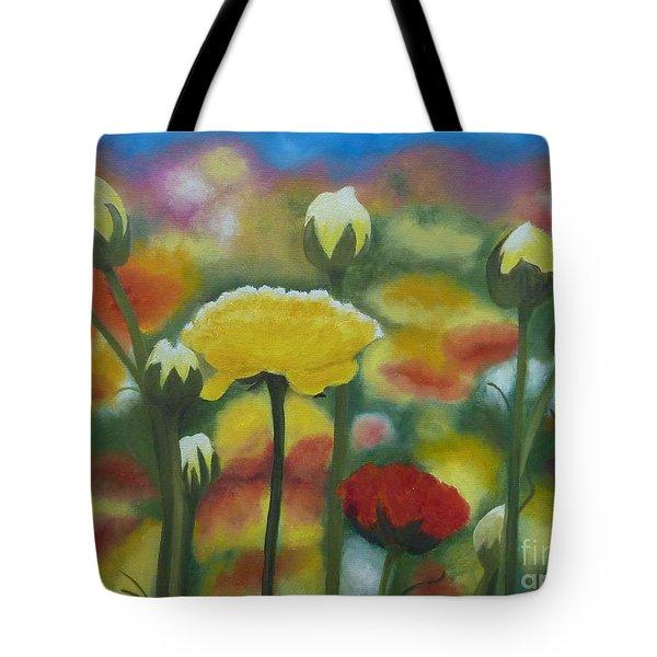 Flower Focus Tote Bag