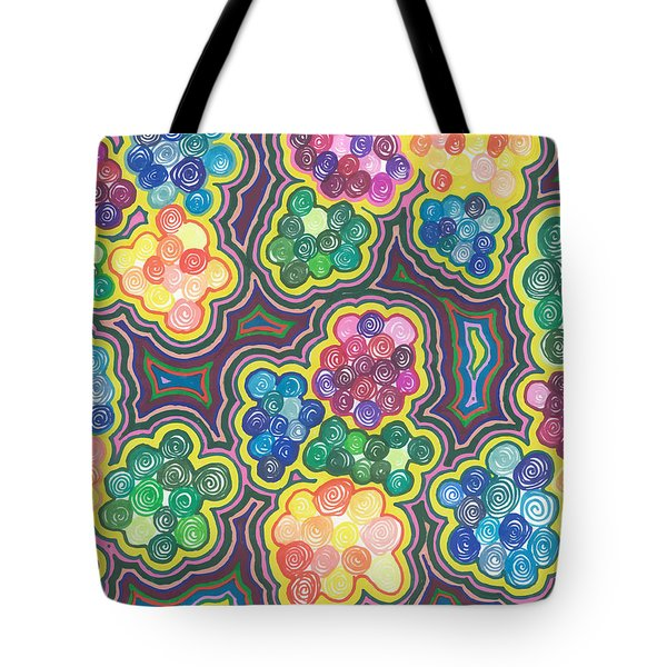 Flower Frenzy Tote Bag