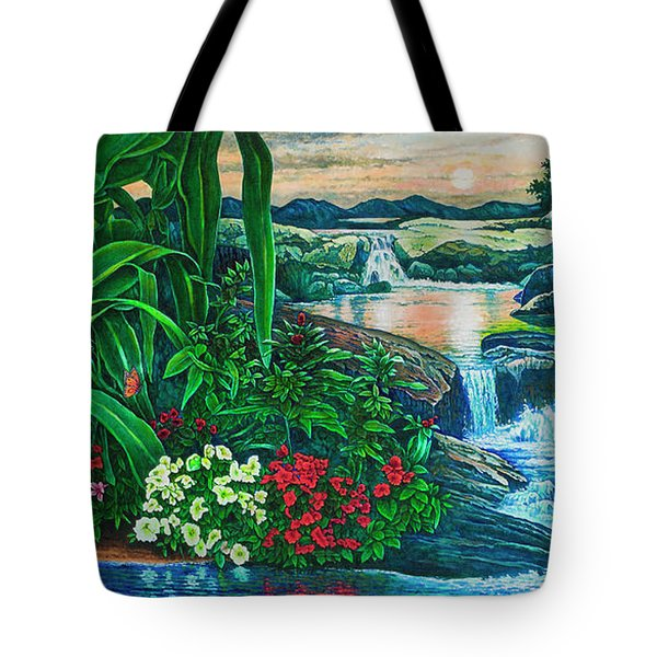 Flower Garden Ix Tote Bag by Michael Frank