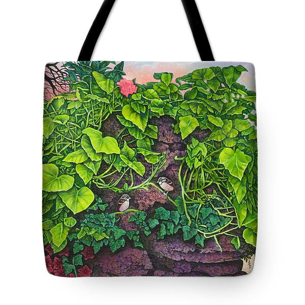 Flower Garden Viii Tote Bag by Michael Frank