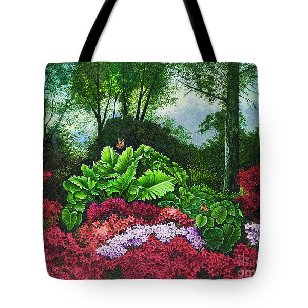 Flower Garden X Tote Bag by Michael Frank