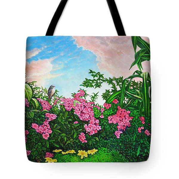 Flower Garden Xi Tote Bag by Michael Frank