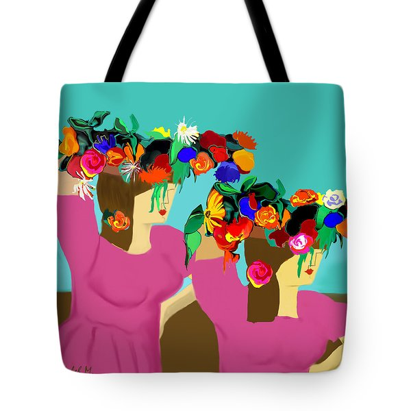 Flower Girls In The Market Tote Bag