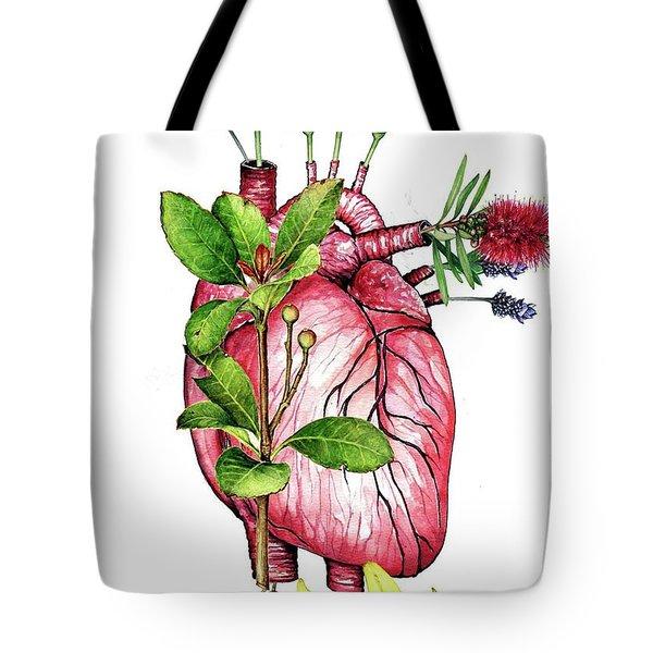 Flower Heart Tote Bag by Heidi Kriel
