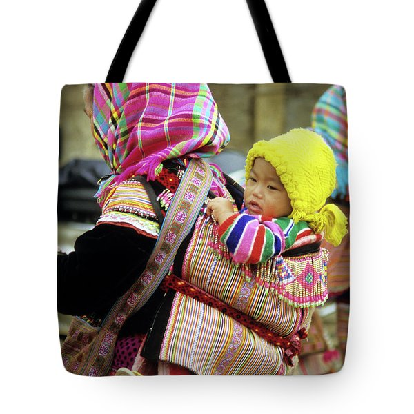 Flower Hmong Baby 06 Tote Bag