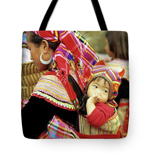 Flower Hmong Baby 07 Tote Bag