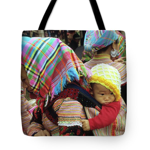 Flower Hmong Baby 08 Tote Bag