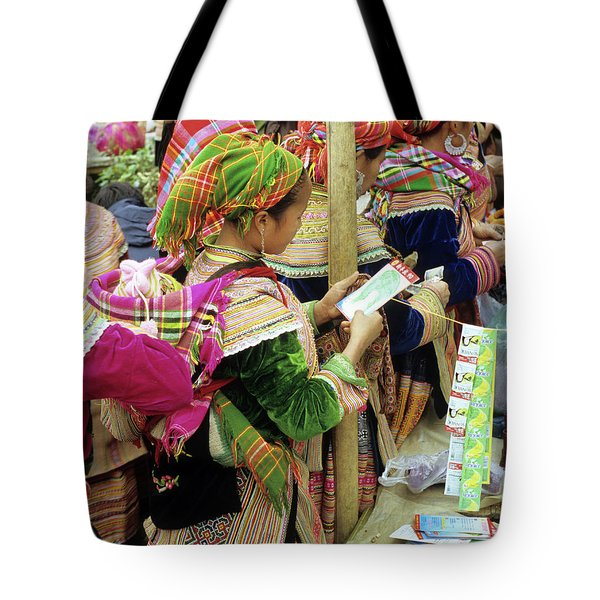 Flower Hmong Mother And Baby Tote Bag