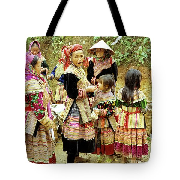Flower Hmong Women And Girls Tote Bag