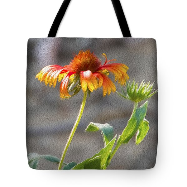 Tote Bag featuring the photograph Flower In Bloom by Pravine Chester