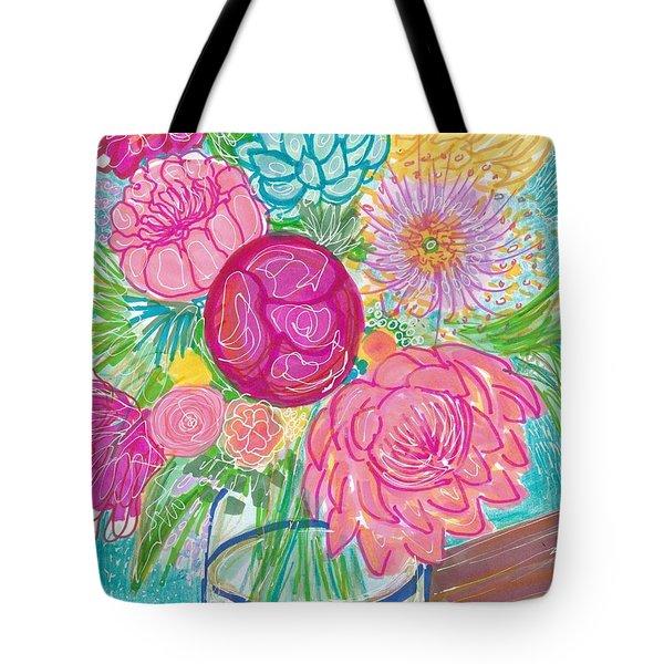 Flower In Vase Tote Bag