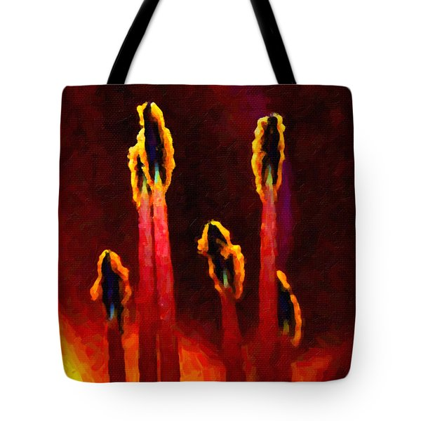 Flower Inside Tote Bag by Andre Faubert