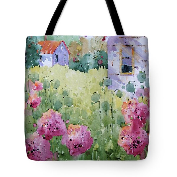 Flower Lady's Poppies Tote Bag