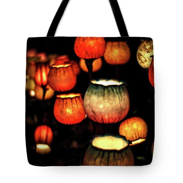 Flower Lamps Tote Bag