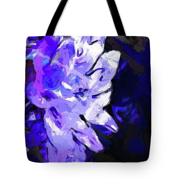 Flower Lavender Lilac Blue Tote Bag