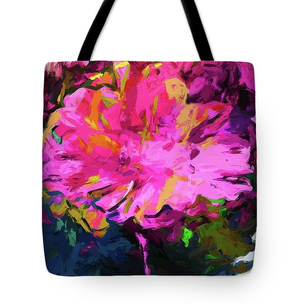 Flower Lolly Pink Yellow Tote Bag