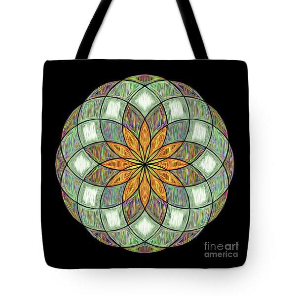 Tote Bag featuring the digital art Flower Mandala Painted By Kaye Menner by Kaye Menner