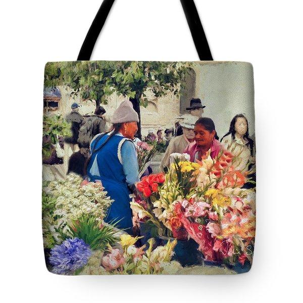 Flower Market - Cuenca - Ecuador Tote Bag