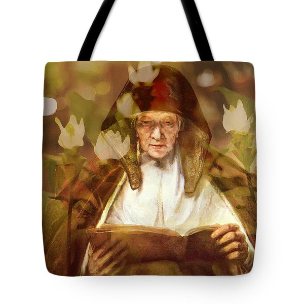 Flower Master Works Series Rembrandt Old Woman Tote Bag