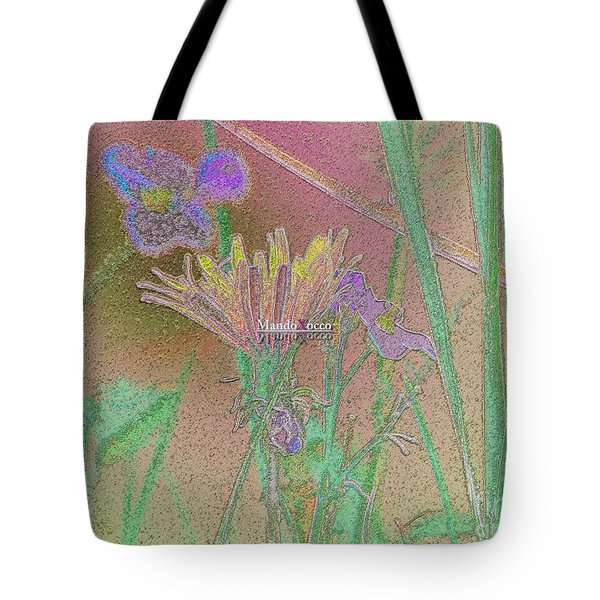 Flower Meadow Line Tote Bag