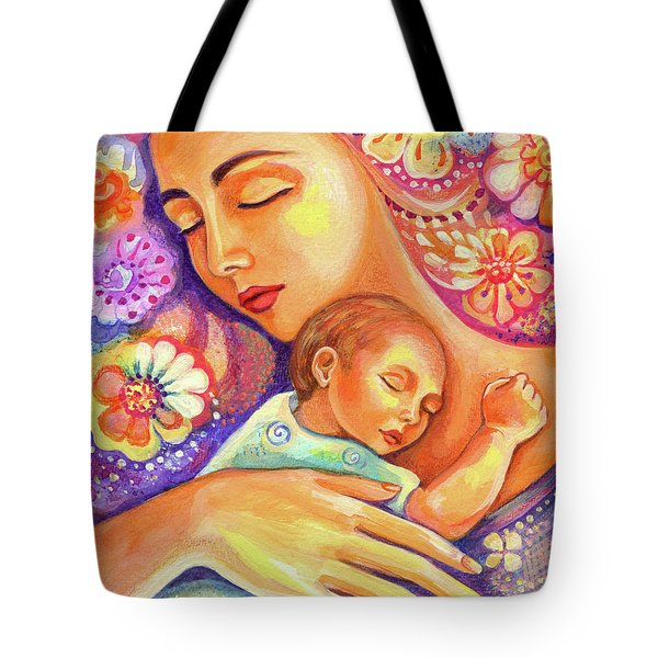 Tote Bag featuring the painting Flower Nap by Eva Campbell