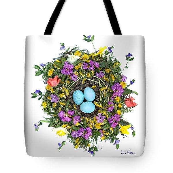 Flower Nest Tote Bag