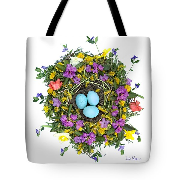 Flower Nest Tote Bag