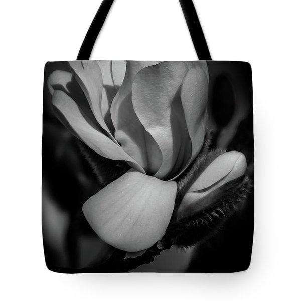 Flower Noir Tote Bag