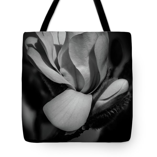 Flower Noir Tote Bag