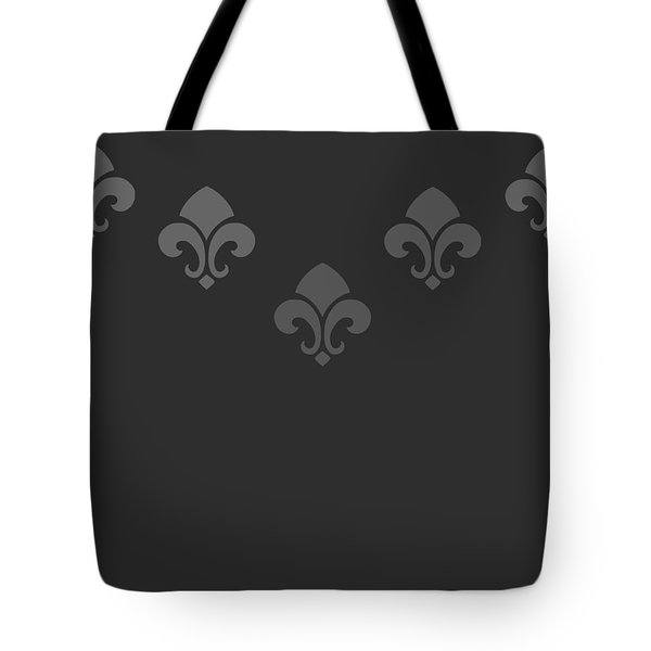 Fleur De Lis In Black Tote Bag