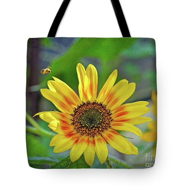 Tote Bag featuring the photograph Flower Of The Sun by Kerri Farley