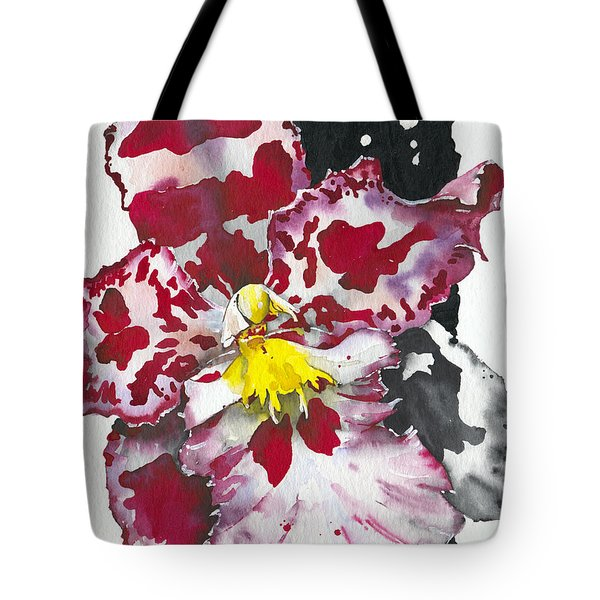 Tote Bag featuring the painting Flower Orchid 11 Elena Yakubovich by Elena Yakubovich