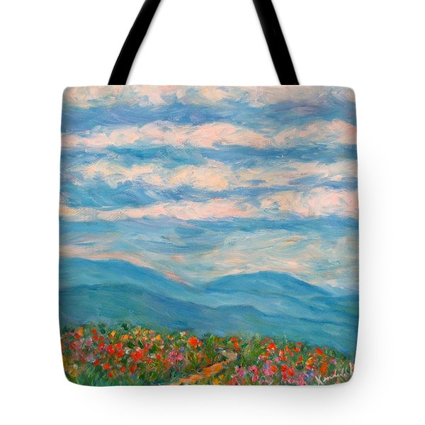 Flower Path To The Blue Ridge Tote Bag