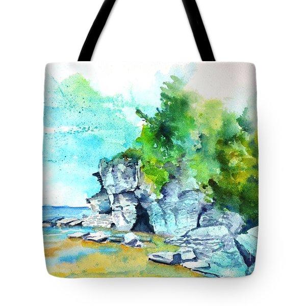 Flower Pot Island Tote Bag