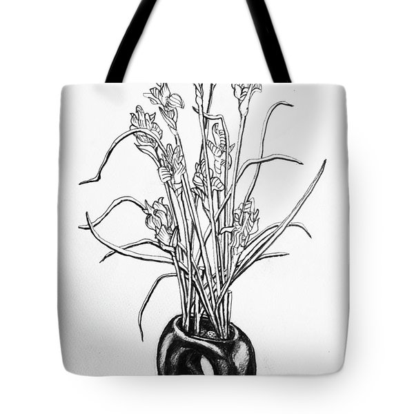 Flower Pot Tote Bag by Rich Travis