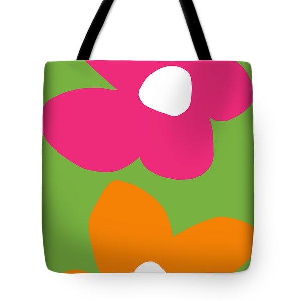 Flower Power 1- Art By Linda Woods Tote Bag