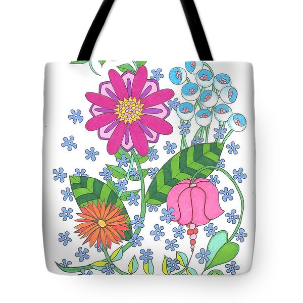 Flower Power 3 Tote Bag