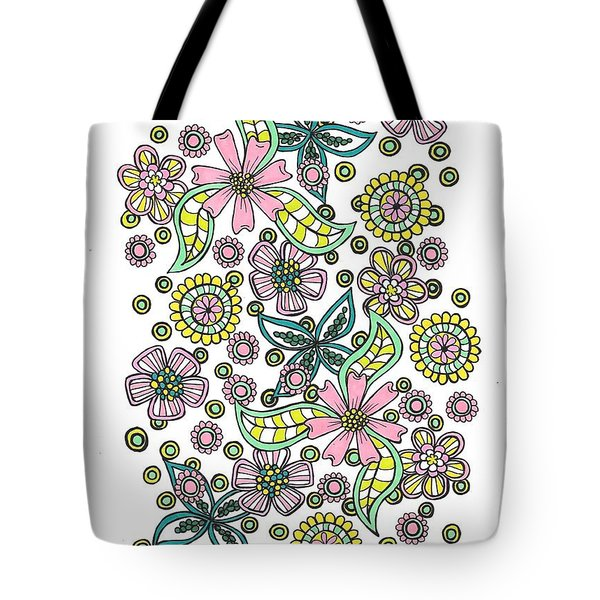 Flower Power 5 Tote Bag