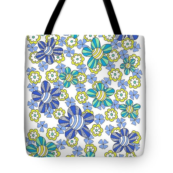 Flower Power 7 Tote Bag