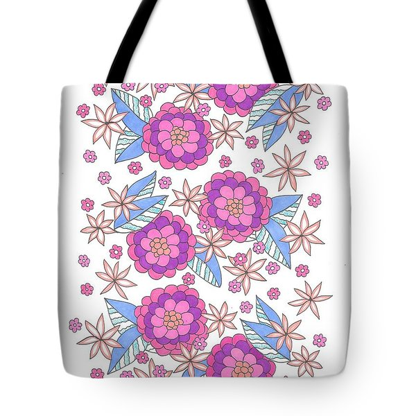Flower Power 9 Tote Bag